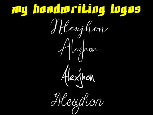 do Logo Handwriting  For Your Brand