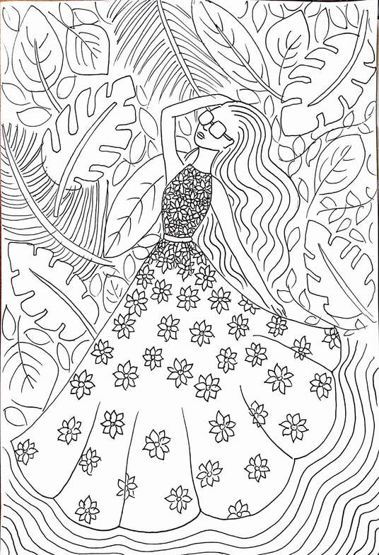 I will make adult fashion themed coloring pages
