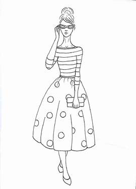 Make Adult Fashion Themed Coloring Pages For 20 Splashlook Fivesquid