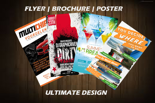 I will Design Banner, Posters, Flyers, Booklet