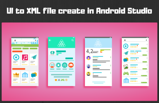 Create professionally UI to XML layout file using Android