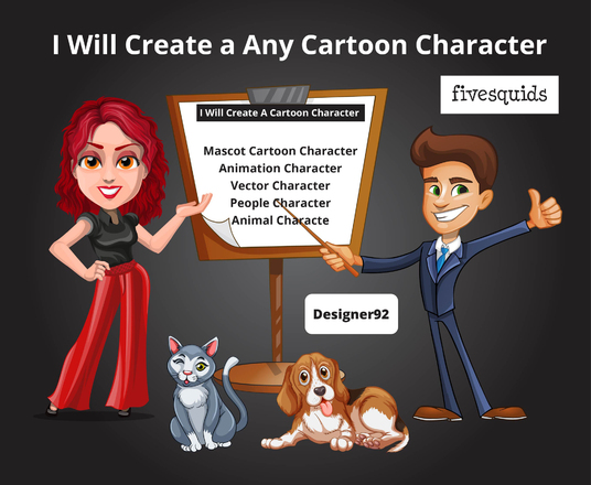 I will create a Any cartoon character
