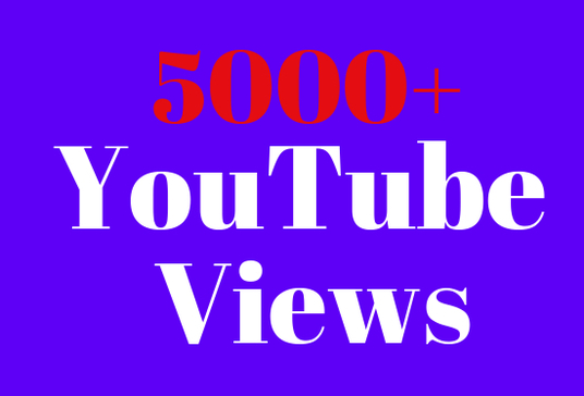 I will give 2000+ real  YouTube  Views