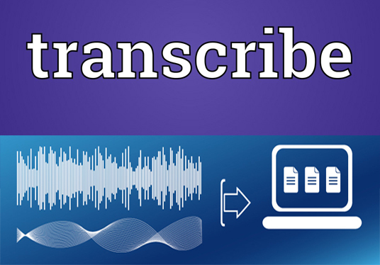 I will transcribe one hour of audio with up to 2 speakers