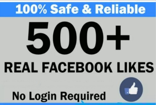 I will give 500 RealFacebook Page likes on your fanpage