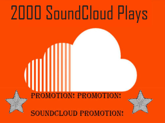 I will provide 2000 Soundcloud Plays