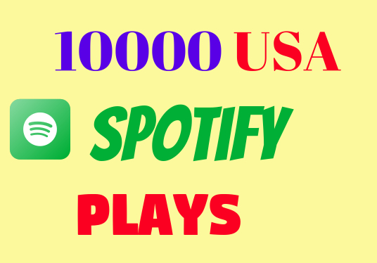 I will do real organic 10000 Spotify music promotion