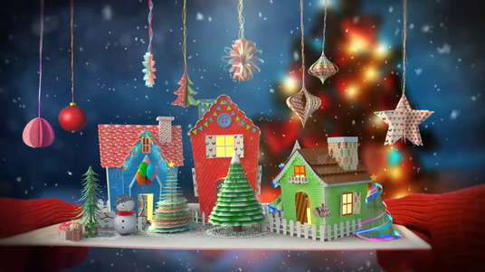 Make Awesome Christmas And New Year Greeting Card Animation