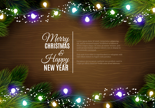 cccccc design christmas new year invitation postcard greetings card