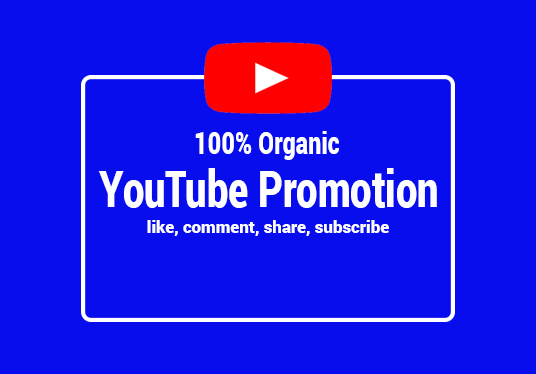 I will do organic youtube promotion views
