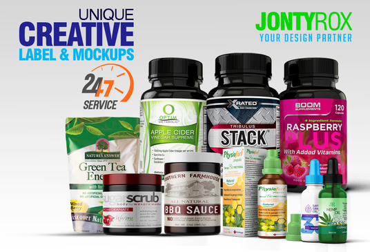 I will design product labels and realistic 3d mock ups
