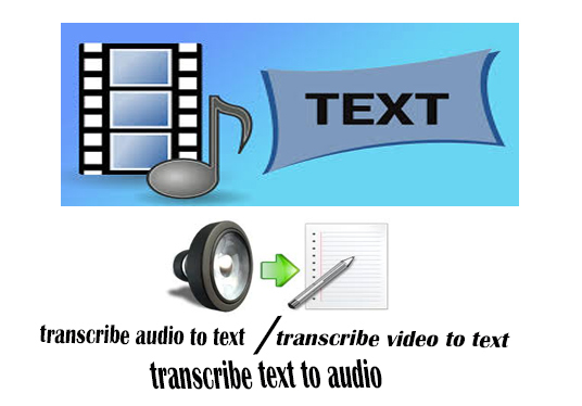 I will perfectly transcribe 10 minutes of audio photo to text or video to text