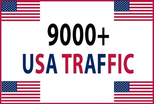 Give you 9,000+USA Real, Human, Unique Visitors