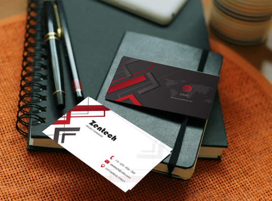 I will create unique business card for you with source file