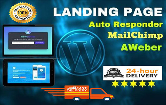I will Design And Develop WordPress Landing Page Website