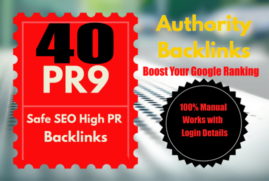I will Build 40 PR9 DA 70-100 SEO Backlinks High Trust Authority Domain Permanent Links SERP Resu