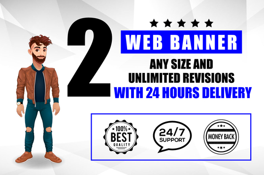 I will Design Web and Social Media Banner in 24 hours