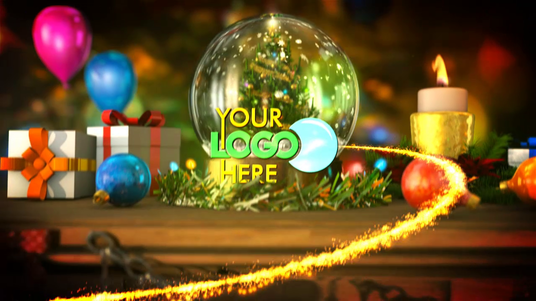 Make Awesome Christmas video Intro with your Logo