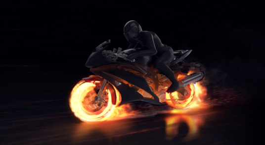 Make Perfect Motorcycle Fire Reveal Logo Animation Intro