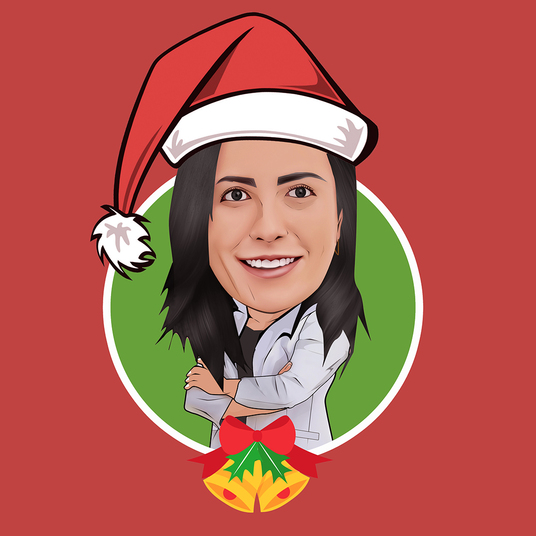I will draw simple caricature from your photo with Christmas themes