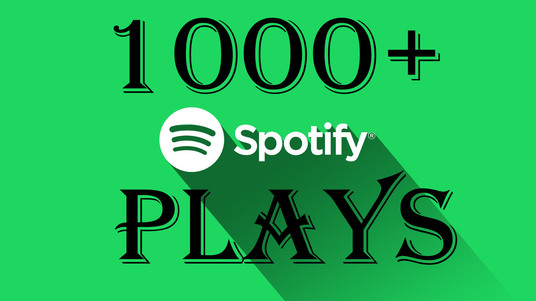 I will do  organic 1000 spotify plays