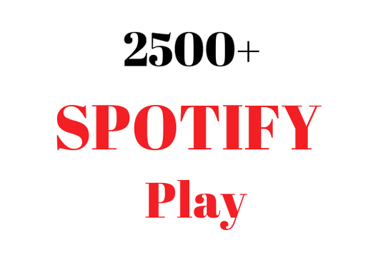 I will add 2500 spotify streams and listeners