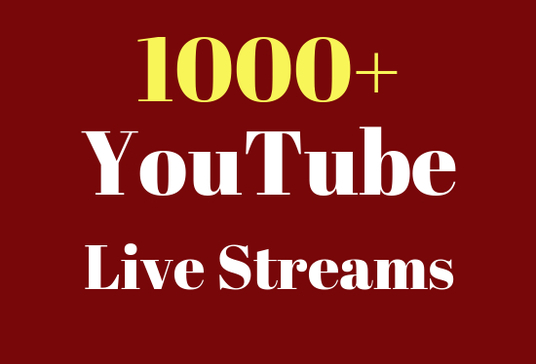 give you 1000  YouTube Live Streams in your video