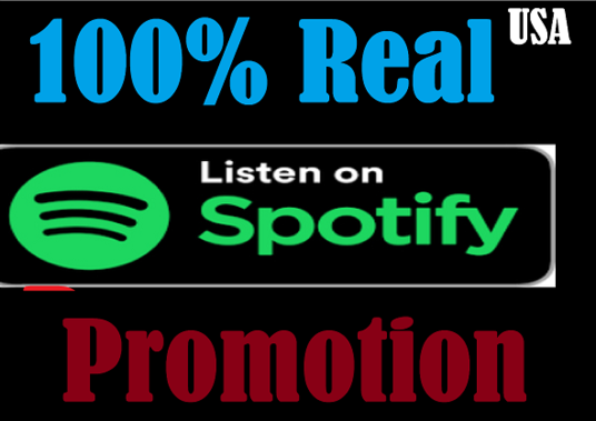 I will viral spotify promotion non drop