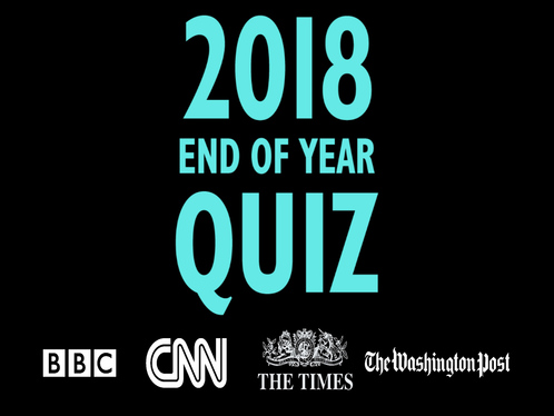 write an end of year quiz for 2018