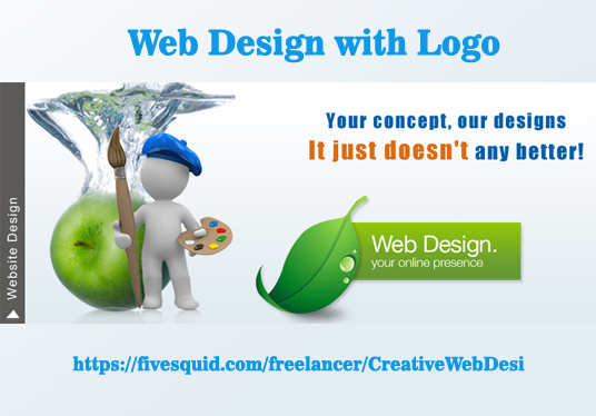 I will design your website with logo