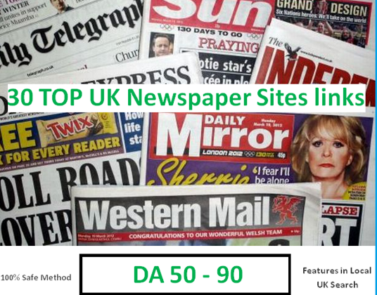 I will Build 30 Links From Top UK Newspaper Sites