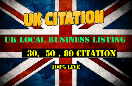 I will Do 80 Live Citation For Local UK Business