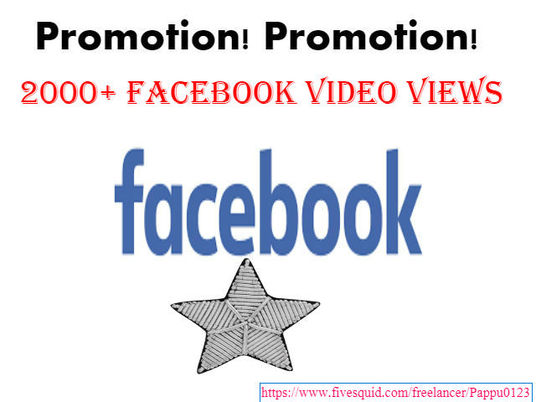 I will provide 2000+ Facebook video views