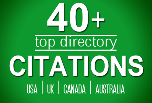 I will Build 40 Directory Citations   For Usa, Uk, Canada Local Listing