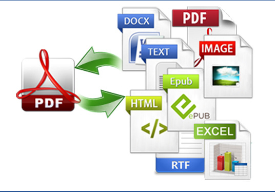 convert PDF to word, excel, powerpoint, etc or vice versa