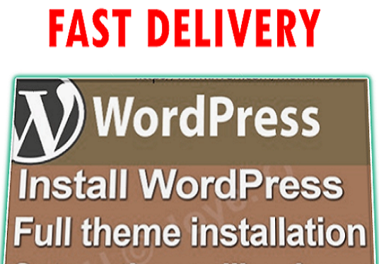 I will Wordpress Theme   Install  Setup