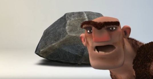 Do Intro Video For Youtube Of Caveman Breaking Stone
