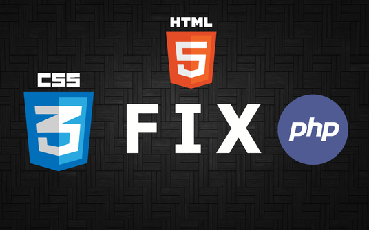 I will fix html,css,bootstrap and php error