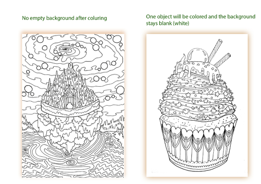 I will Create a complex colouring page