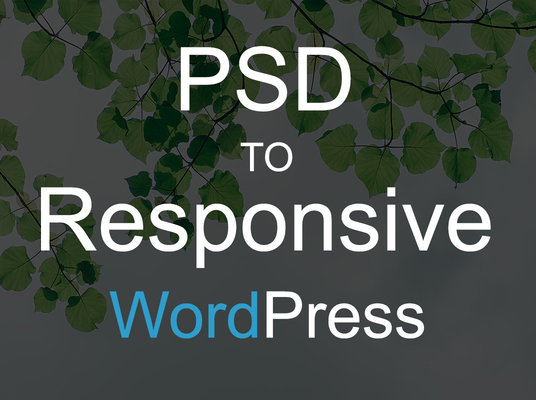 I will convert PSD  to responsive wordpress
