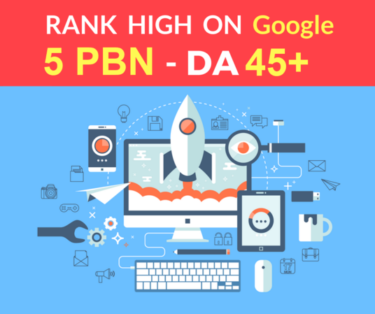 I will provide You Spam Free 5 PBN Posts High Metrics Domains DA 45+