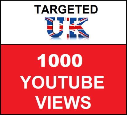 Add 1,000 UK  Targeted YouTube video views
