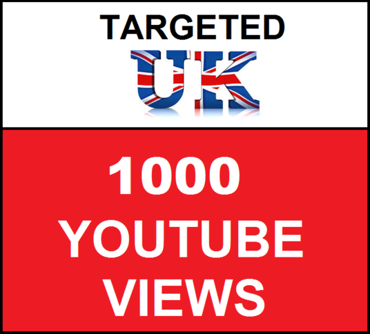 I will Add 1,000 UK  Targeted YouTube video views