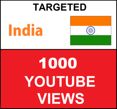 Added 1000 INDIA Targeted Youtube Views
