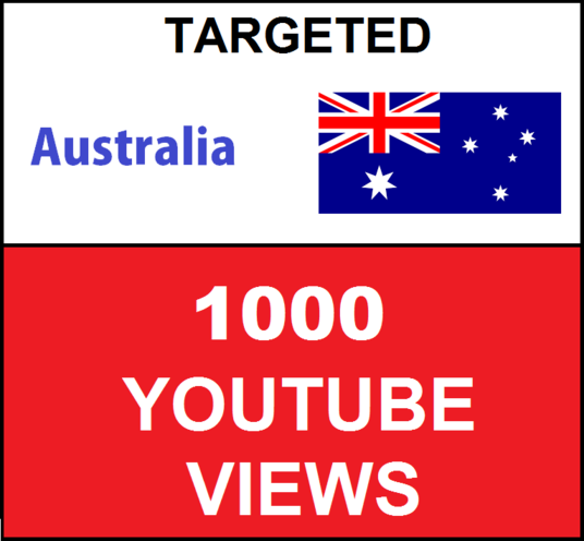 I will Add 1000 Australia Targeted YouTube video views
