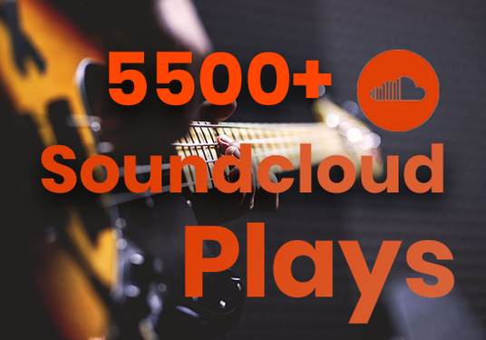I will Give you 5500+ SoundCloud Music Plays
