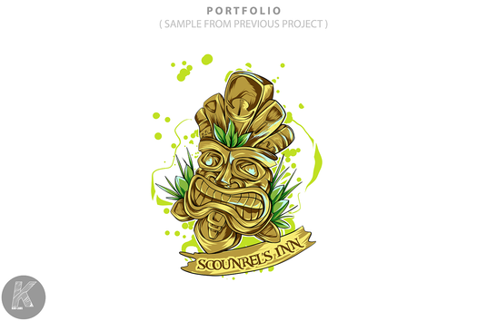 design logo with illustration , mascot , character style