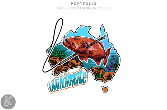 I will design fishing , outdoor artwork illustration for you
