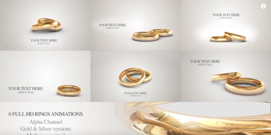 Make Wedding Rings Invitation Video