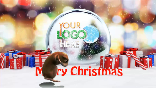 Create Snowman & hamster Dancing Christmas Wishes Intro Video